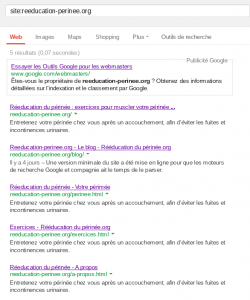 Reference site sur google